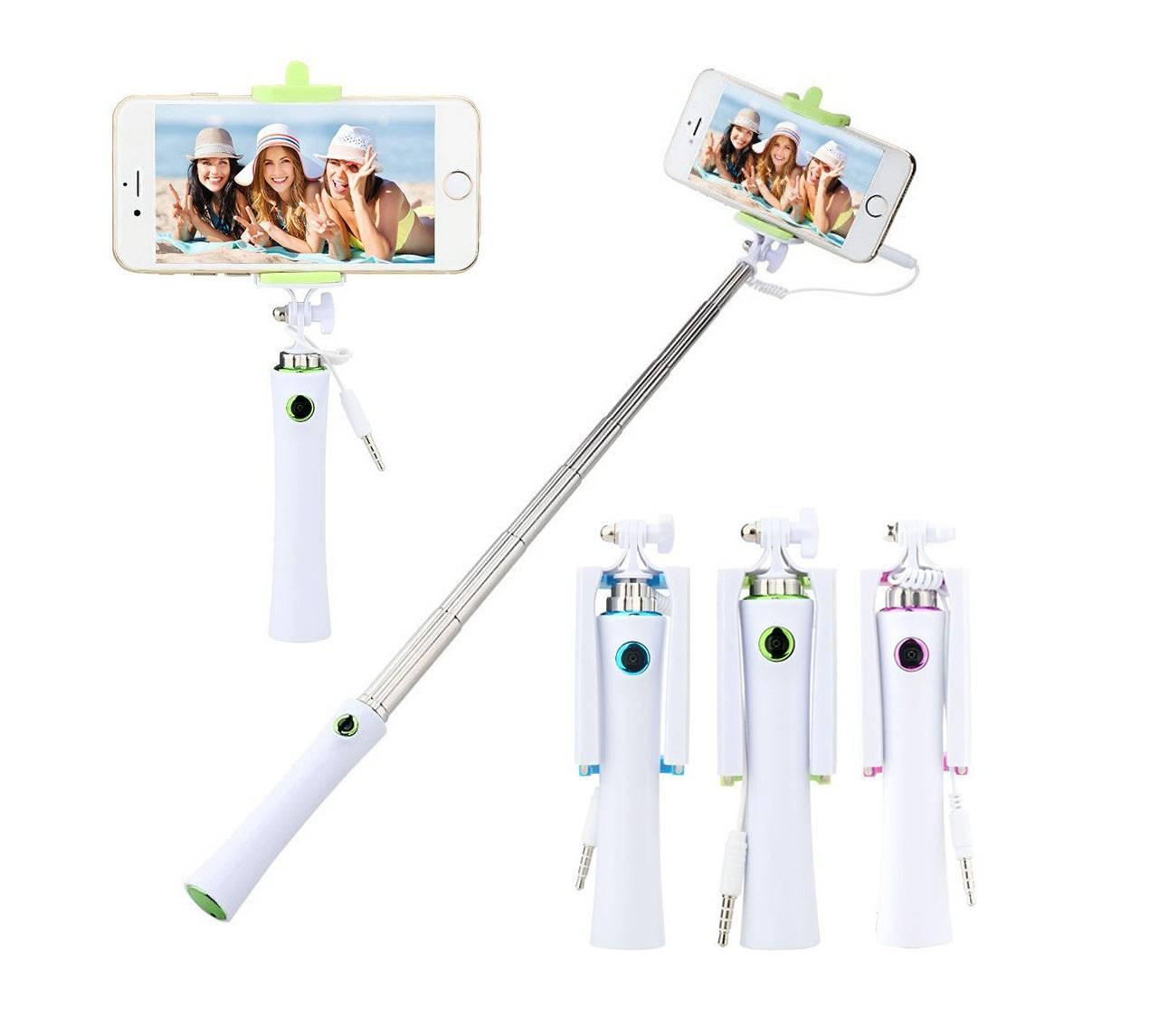 Selfie tyč s tlačítkem pro mobilní telefon
