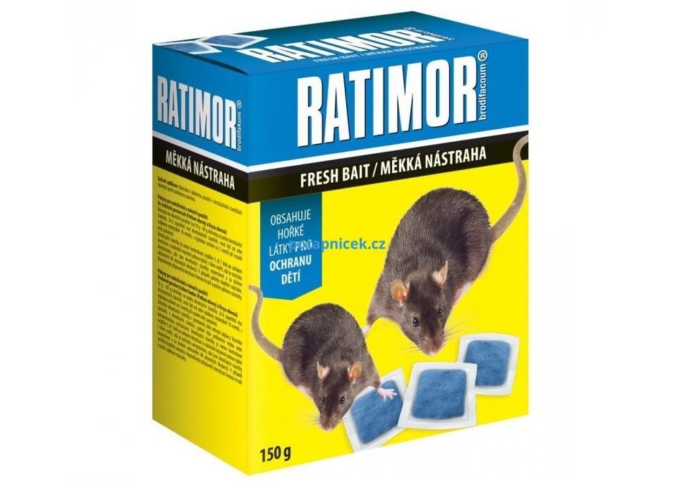 Ratimor měkká nástraha 150g Jed na potkany a myši s brodifakem
